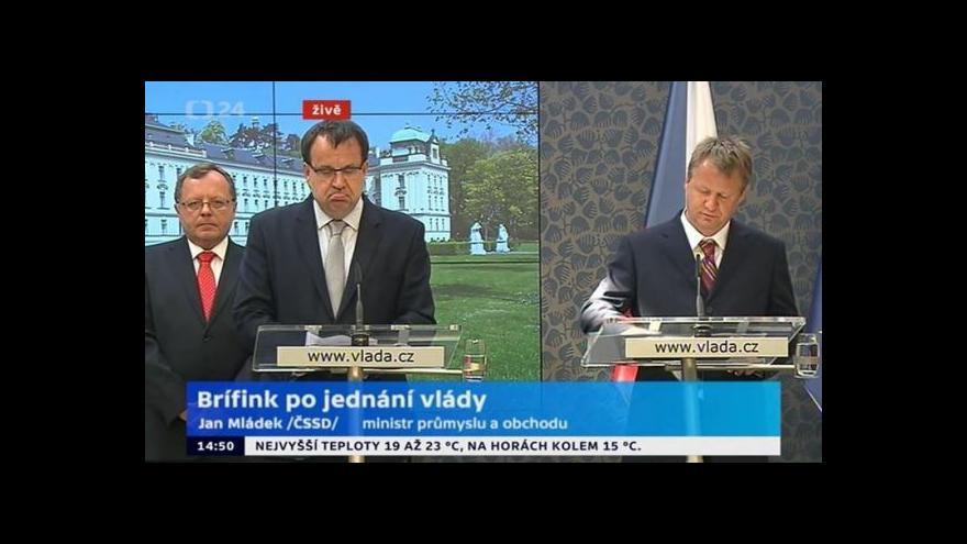 Video Brífink po zasedání vlády