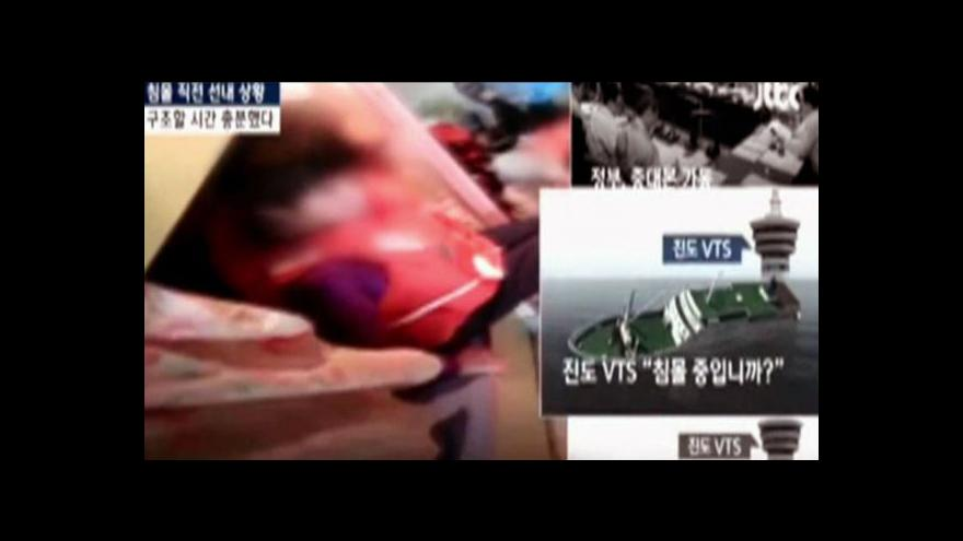 Video Svědectví ze záhrobí: Záběry z potápějícího se trajektu