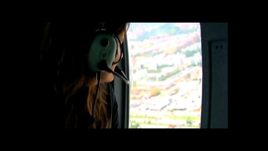 Video Létající taxi v Bogotě