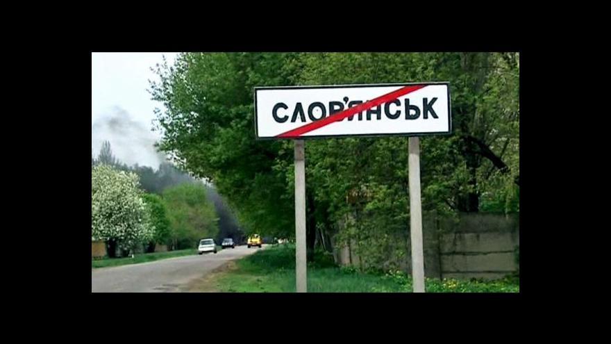 Video Karas: Ve Slavjansku je zatím klid