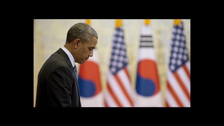Video Obama zamířil do Jižní Koreje