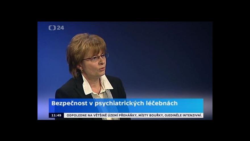 Video Dagmar Žitníková k bezpečnosti v psychiatrických léčebnách