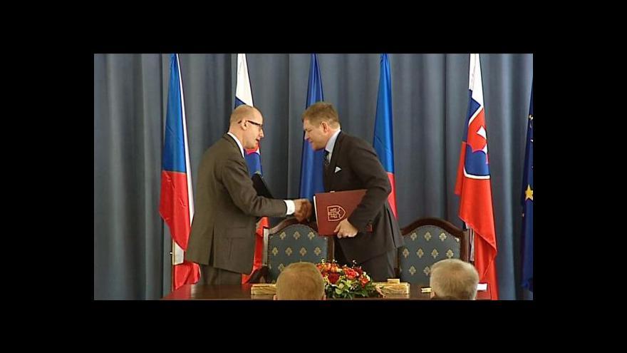 Video Česko-slovenskému vládnímu jednání dominovala ekonomika
