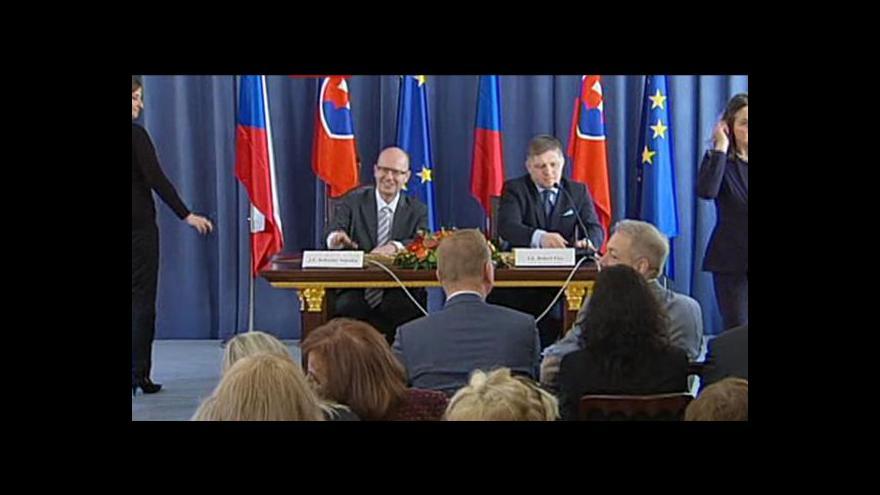 Video Brífink ke společnému zasedání vlád ČR a SR