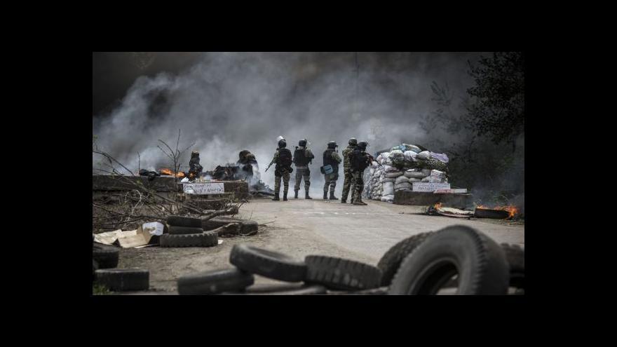 Video Karas k operaci u Slavjansku: Působí tu až 15 bojových vozidel