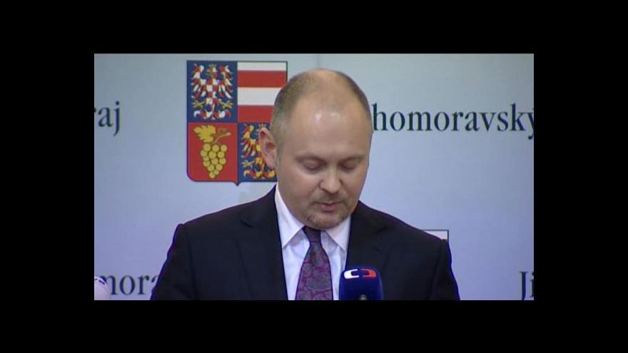 Video Hašek zůstane hejtmanem Jihomoravského kraje
