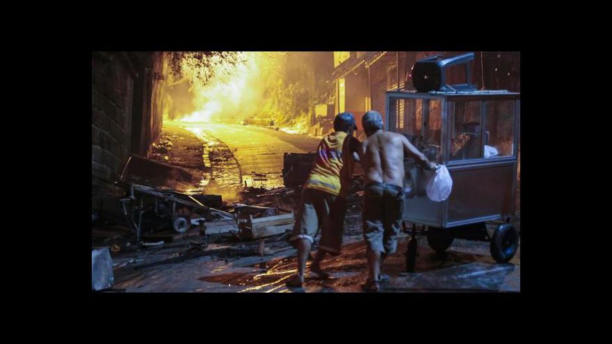 Video V brazilském Riu de Janeiru v noci propukly nepokoje