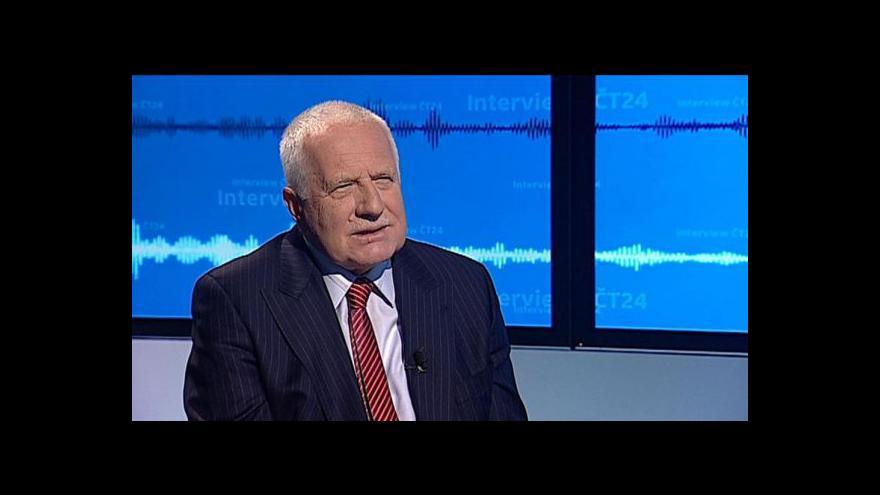 Video Klaus: Ukrajina si musí rozhodnout sama, intervence jí jen škodí