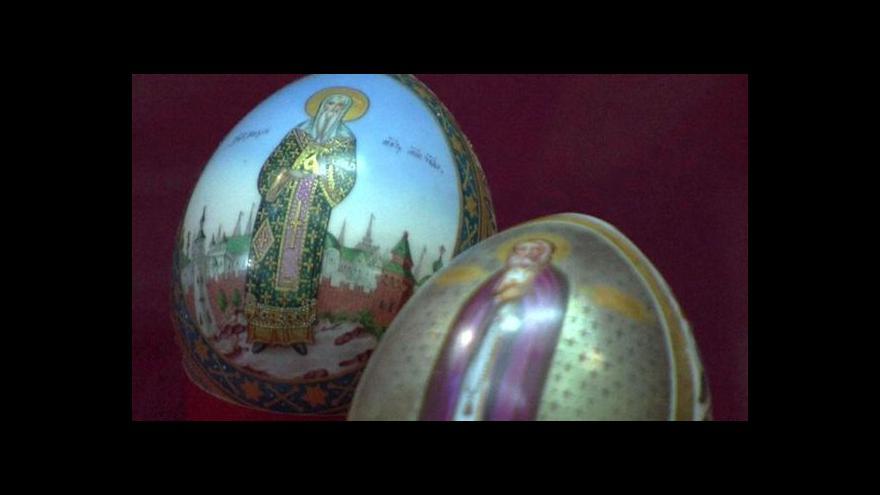 Video Porcelánová vejce z carských dob jsou k vidění v Moskvě