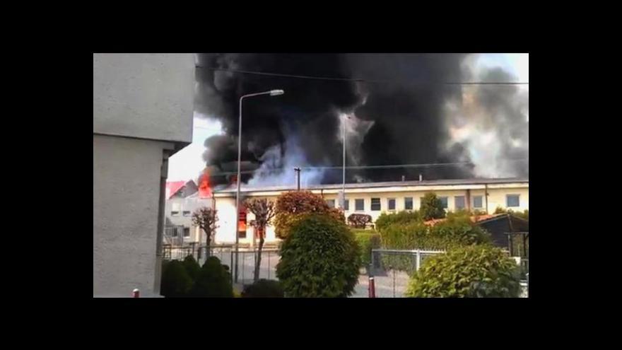 Video Požár galvanovny v Lanškrouně způsobil škodu za 200 milionů