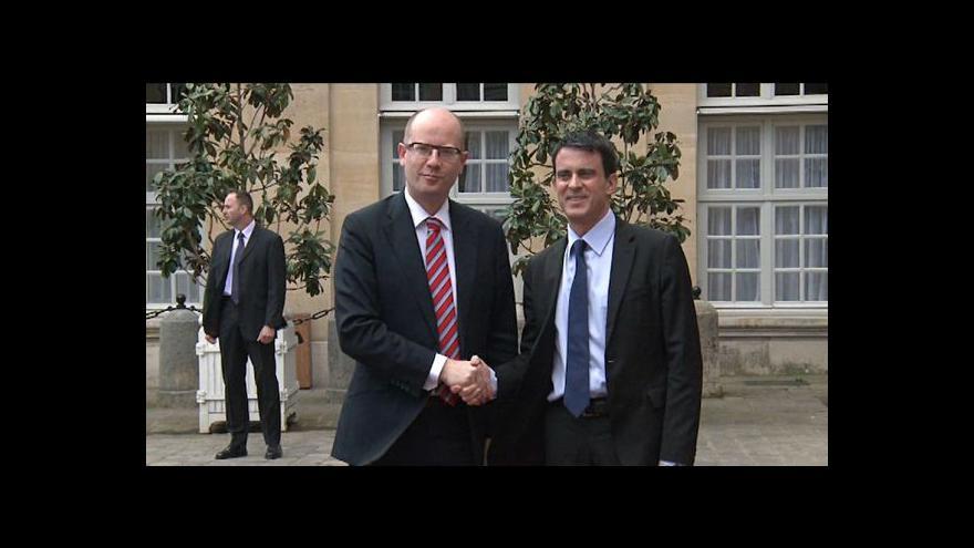 Video Premiér Sobotka ukončil dvoudenní cestu do Francie