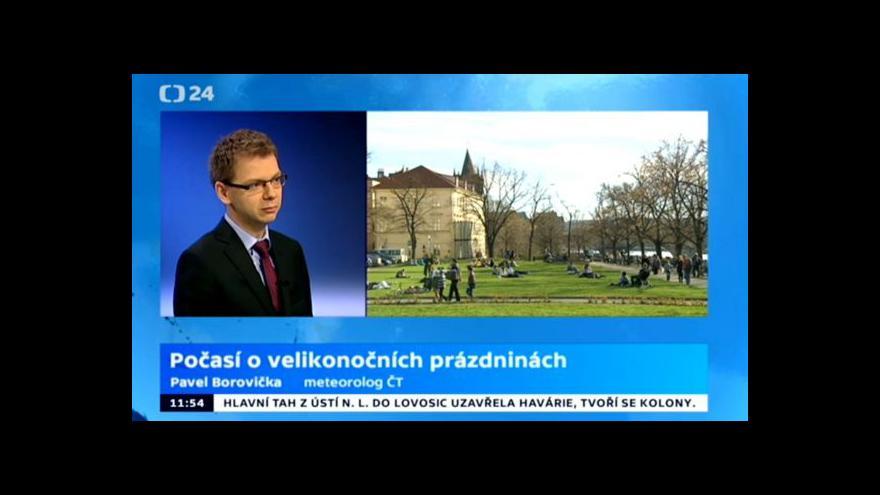 Video Meteorolg ČT Pavel Borovička: O Velikonocích bude tepleji