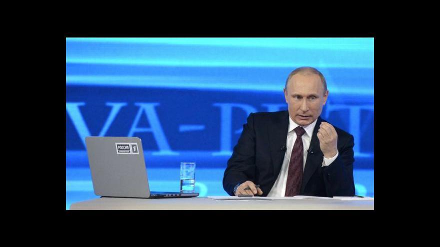 """Video Putin o východě Ukrajiny mluvil jako o """"Novém Rusku"""""""