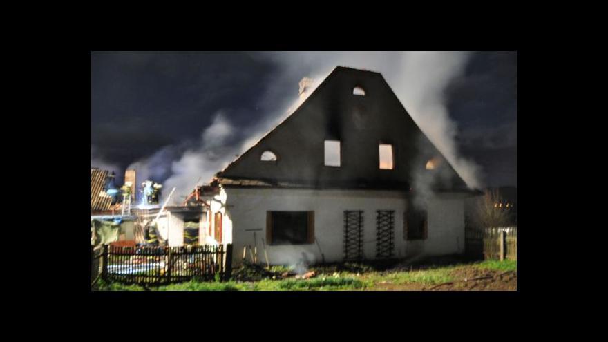 Video Požár statku na Šumpersku zabil dva muže