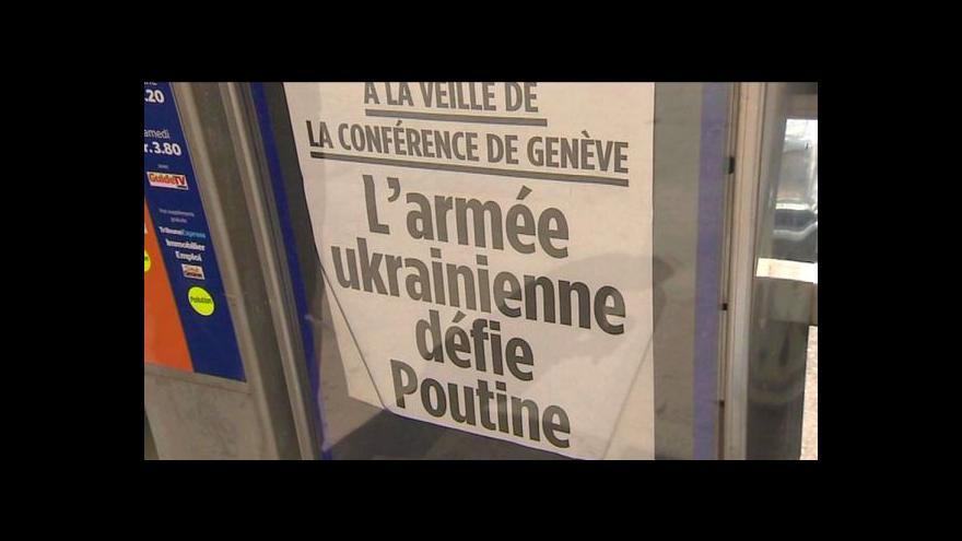 Video Přípravy na jednání o ukrajinské krizi v Ženevě