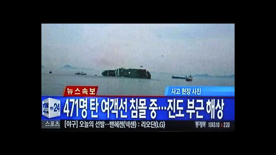 Video Tomáš Etzler k potopení jihokorejského trajektu