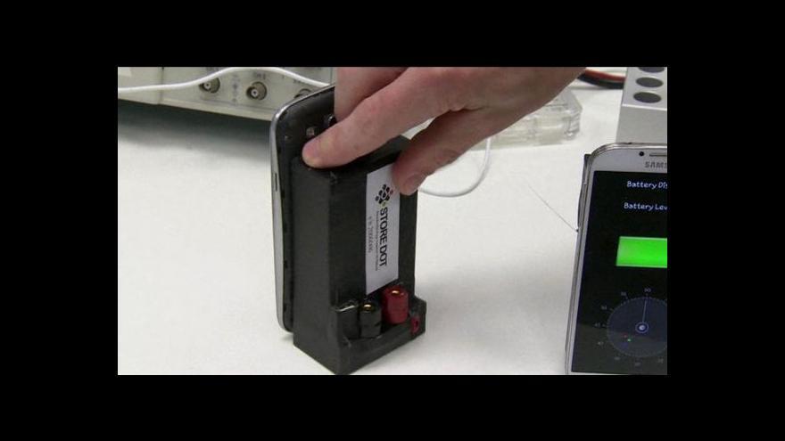 Video Baterie společnosti StoreDot se nabije za půl minuty