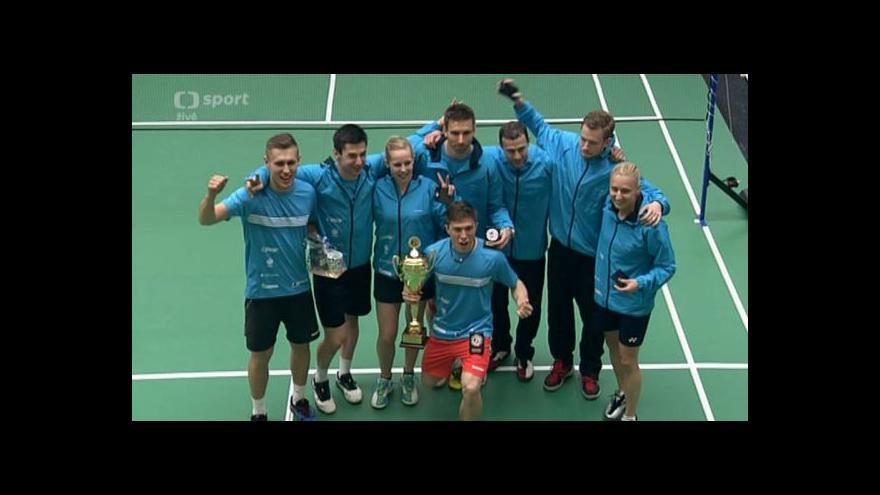 Video Extraligu družstev vyhráli popáté v řadě badmintonisté Brna-Jehnic