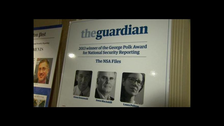 Video Laureáti Pulitzera: Cena patří hlavně Snowdenovi