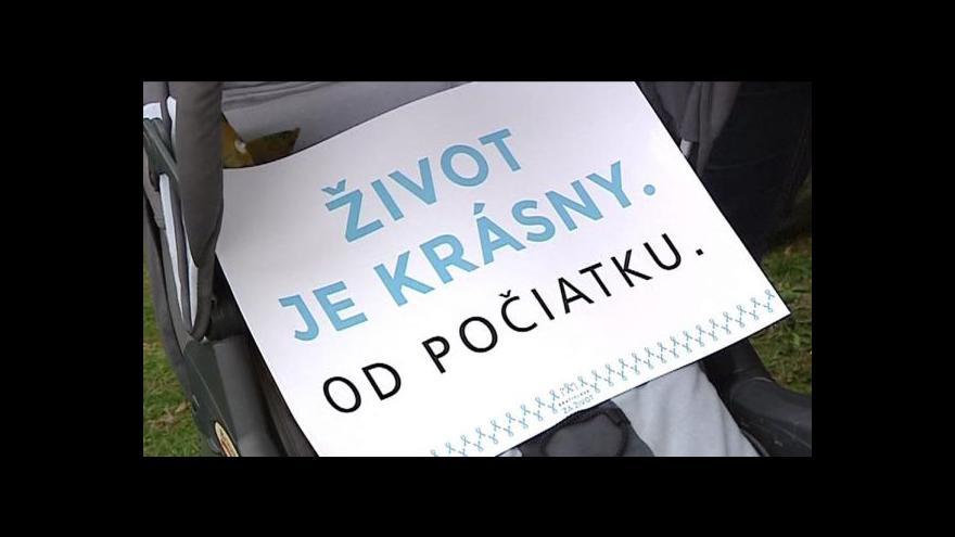 """Video V Bratislavě se demonstrovalo """"za život"""""""