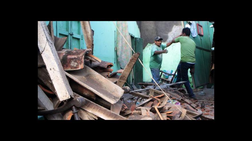Video 6,6 stupně Richterovy škály - zemětřesení v Nikaragui