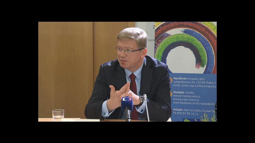 Video Eurokomisař Füle: Unie uvažuje o zrušení cel Ukrajině