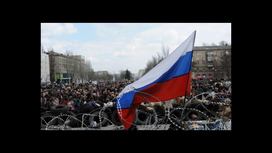 Video Jaceňuk uklidňoval situaci na východě Ukrajiny