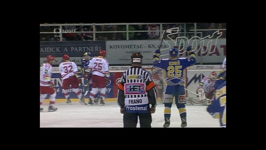 Video Gól v utkání Třinec - Zlín: Honejsek - 0:1 (14. min.)