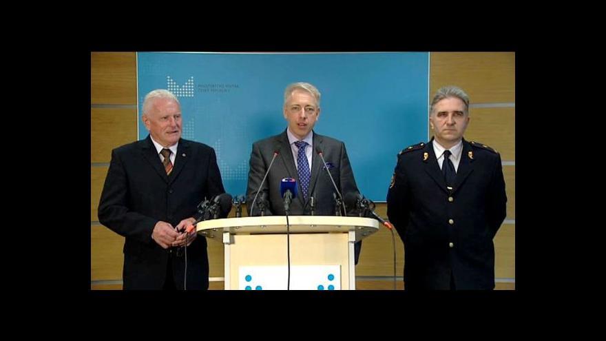 Video Brífink ministra vnitra ke zvýšení platů hasičů