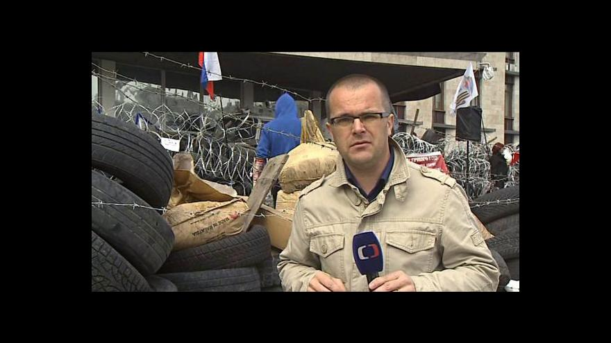 Video Josef Pazderka navštívil obsazenou doněckou radnici