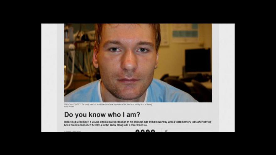 Video V Norsku našli muže se ztrátou paměti, umí ale česky