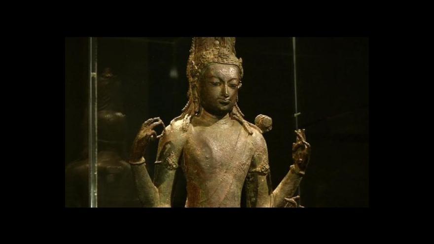 Video Vzácné artefakty z Barmy se vůbec poprvé objeví za hranicemi země