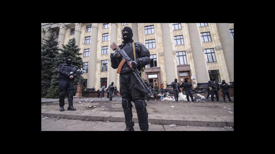 Video V Charkově pozatýkali desítky separatistů