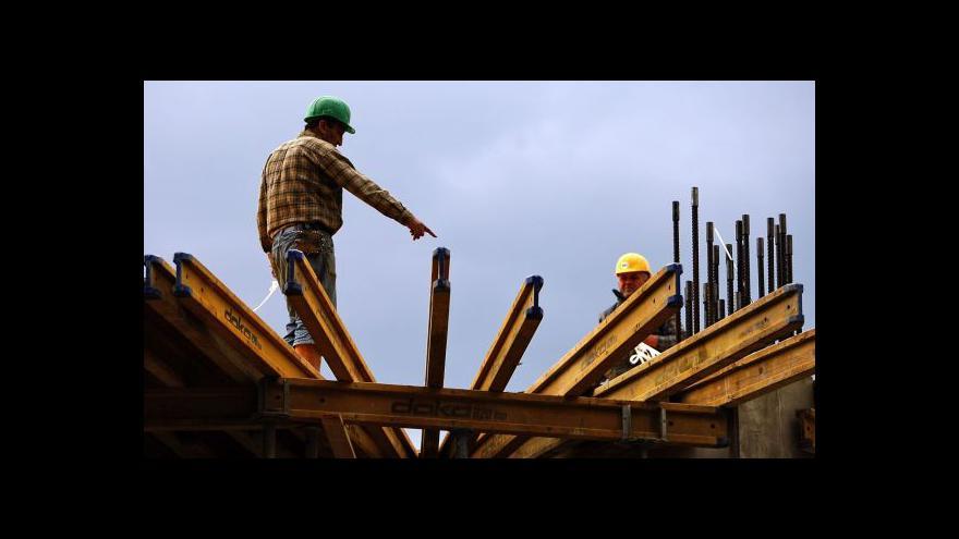 Video České stavebnictví si v lednu připsalo 5 procent