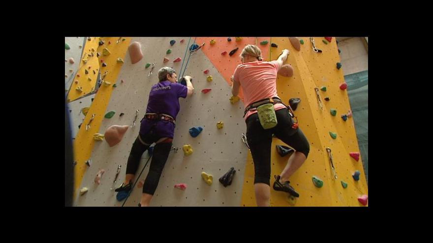 Video Pro nevidomé horolezce není handicap překážkou