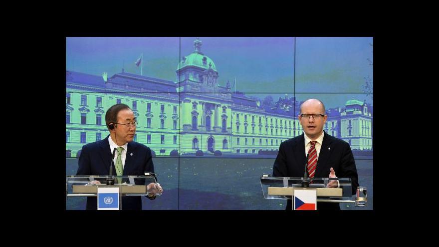 Video Pan Ki-mun jednal s Bohuslavem Sobotkou