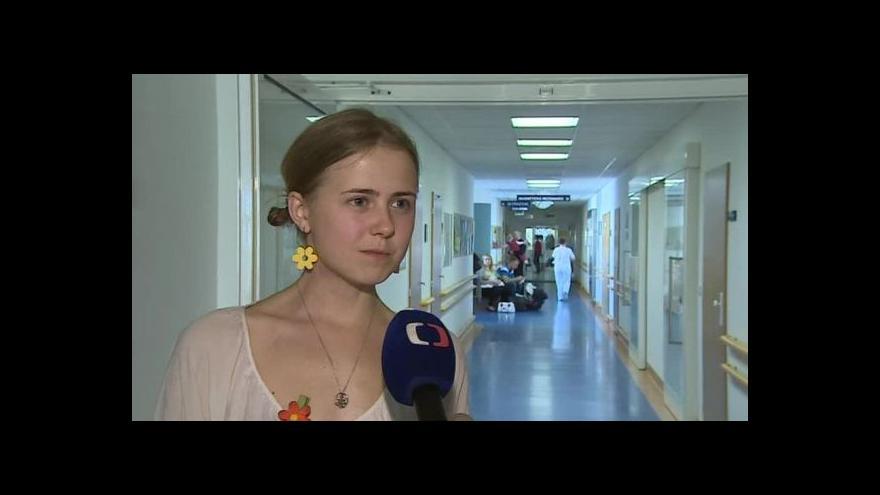 Video O své zkušenosti s nemocí hovoří jednadvacetiletá Zuzana