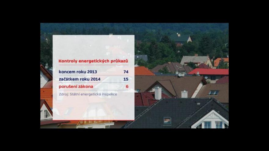 Video Energetické průkazy: V sítích kontrolorů už uvízlo šest lidí