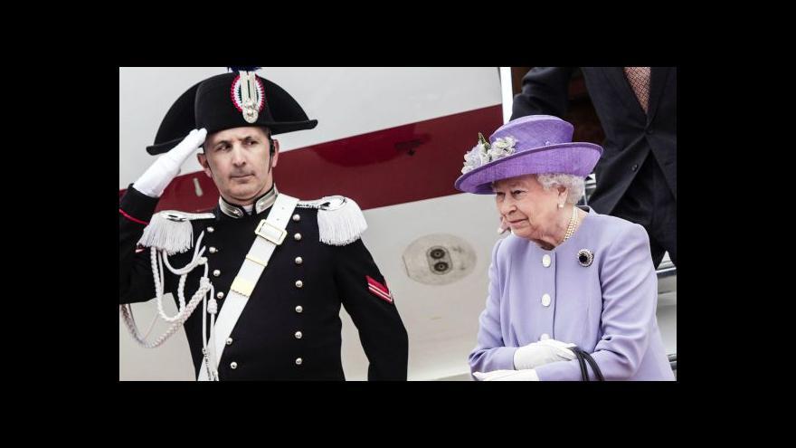 Video Alžběta II. navštívila Itálii