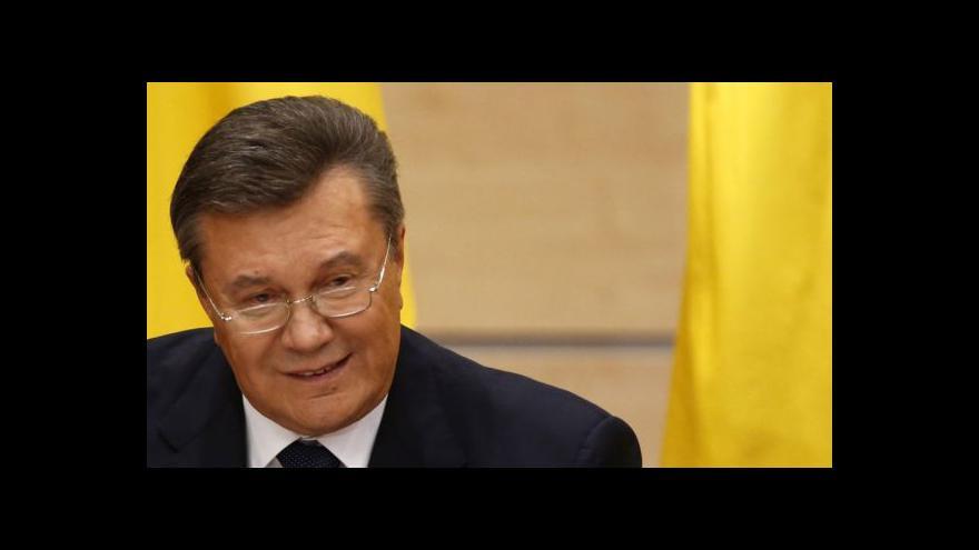 Video Janukovyč doufá, že se na Ukrajinu vrátí