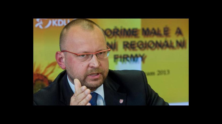 """Video Bartošek: """"Menší"""" novelu zákona předložíme vládě v řádu týdnů"""