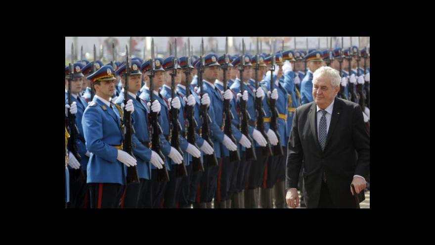Video Zeman podpořil vstup Srbska do EU