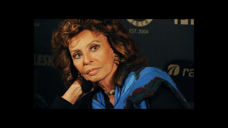 Video Sophia Lorenová - hvězda 60. let v Praze