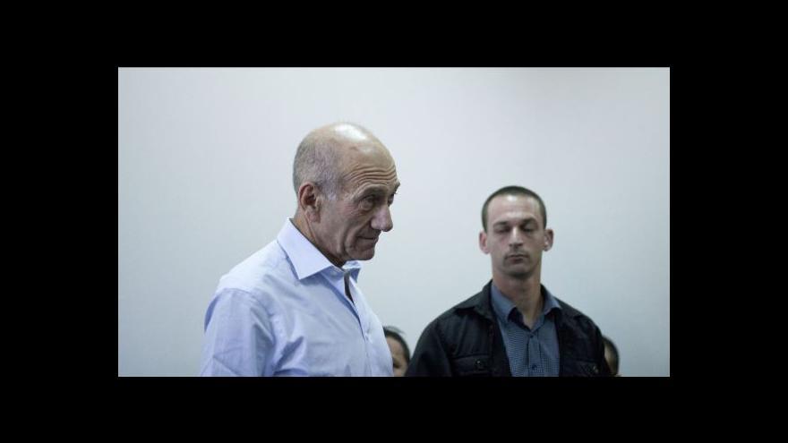 Video Zpravodaj ČT: Olmerta čeká velmi vysoký trest, možná až doživotí