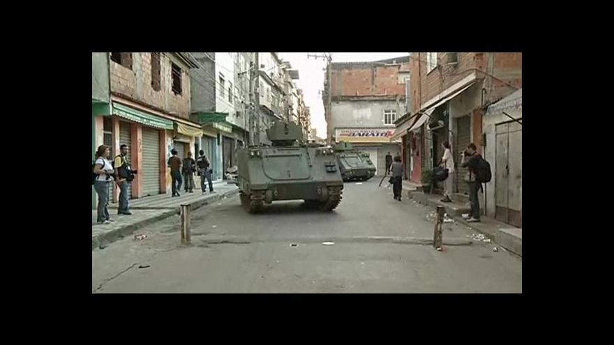 Video Brazilští vojáci ve favele Maré