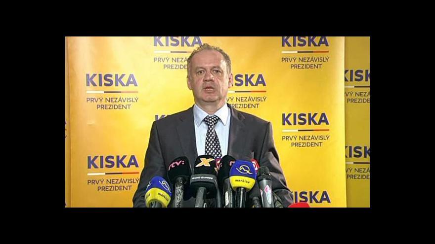 Video Andrej Kiska děkuje voličům za hlasy a za zvolení prezidentem