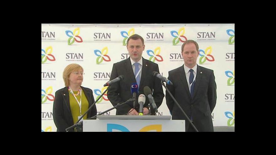 Video Brífink nového předsedy STAN Martina Půty