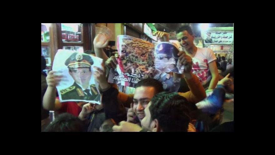 Video Sísí oznámil kandidaturu na egyptského prezidenta