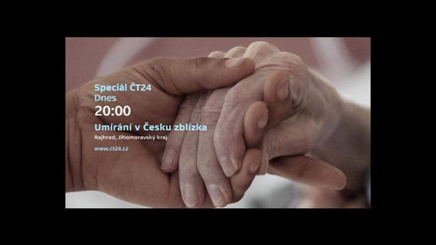 Video Editor ČT Aleš Gongol zve ke sledování speciálu Umírání v Česku zblízka