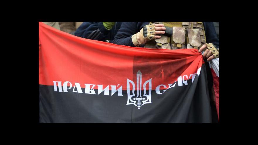 Video Na Ukrajině zabili jednoho z předáků Pravého sektoru